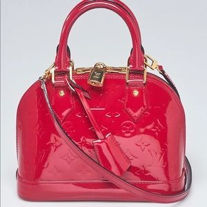Louis Vuitton Alma BB Vernis Rose Indian EUC